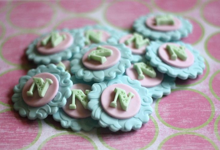 Classic Initial Fondant Toppers - Perfect for Cupcakes, Cookies and Other Edible Creations - Weddings. $13.99, via Etsy.