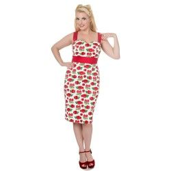 Robe crayon fruits rouges