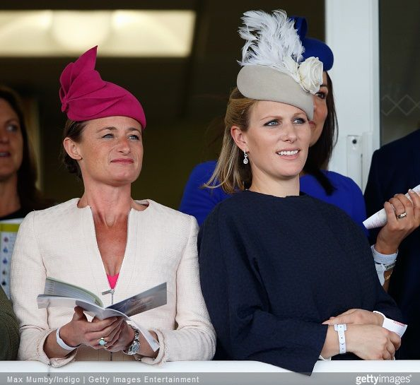 """Zara Phillips and Mike Tindall attended day 3 'Grand National Day' of the Crabbie's Grand National Festival at Aintree Racecourse on April 11, 2015 in Liverpool, England.   ( They watched their horse """"Monbeg Dude"""" run in the Grand National.)"""