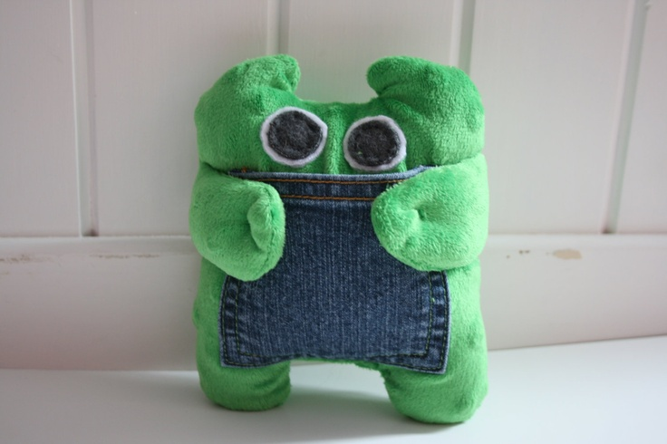 tooth fairy pillow, green monster, stuffed animal with pocket, OOAK Green, Animals and Tooth ...