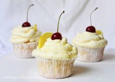 bulut ağacı: Limonata Cupcakeler (Limonlu cupcakeler)