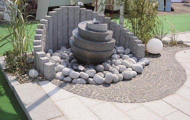 Gartenbrunnen Granit Cassandra