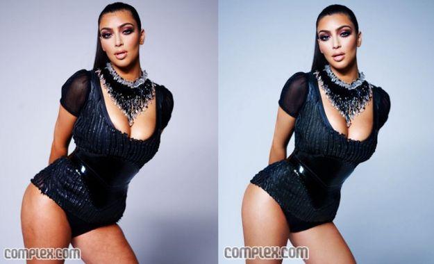 Kim Kardashian. | As falhas de Photoshop em celebridades mais grotescas de todos os tempos