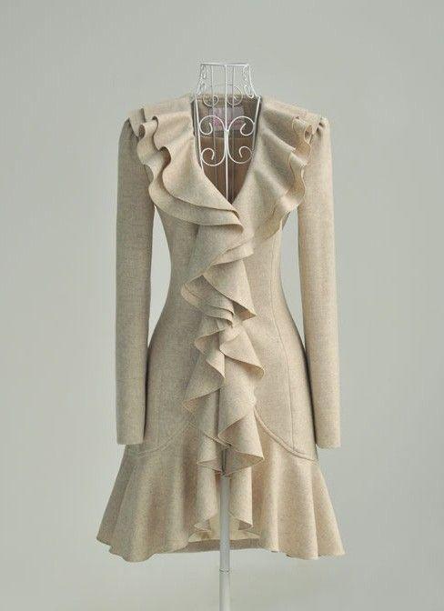 LOVE.: Cute Coats, Fashion, Style, Clothing, Beautiful, Dresses, Ruffles Coats, Winter Coats, Wool Coats