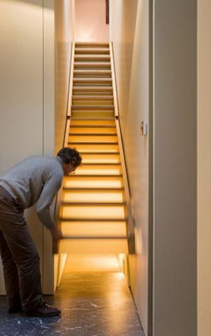 Who would ever turn down a secret room in your home? So why not use your stairs as the secret passageway?