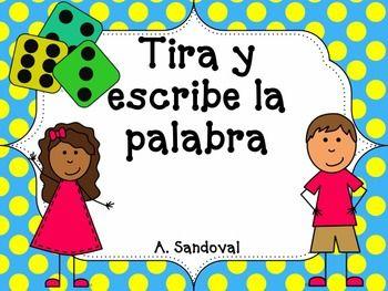 Juego de silabas.  Los estudiantes tiran dos dados y escriben la silaba cual le corresponda al nmero.  Despus escriben la palabra en la caja.  Tiene que circular si la palabra que formaron hace sentido o no.