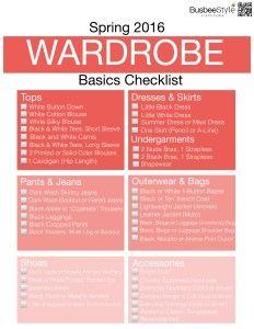 Spring Wardrobe Basics Checklist 2016.001 | Busbee Style