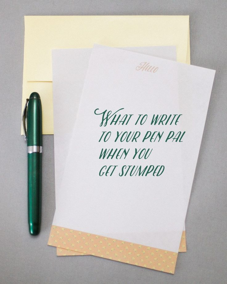 What to Write to Your Pen Pal When You Get Stumped - ParcelParty