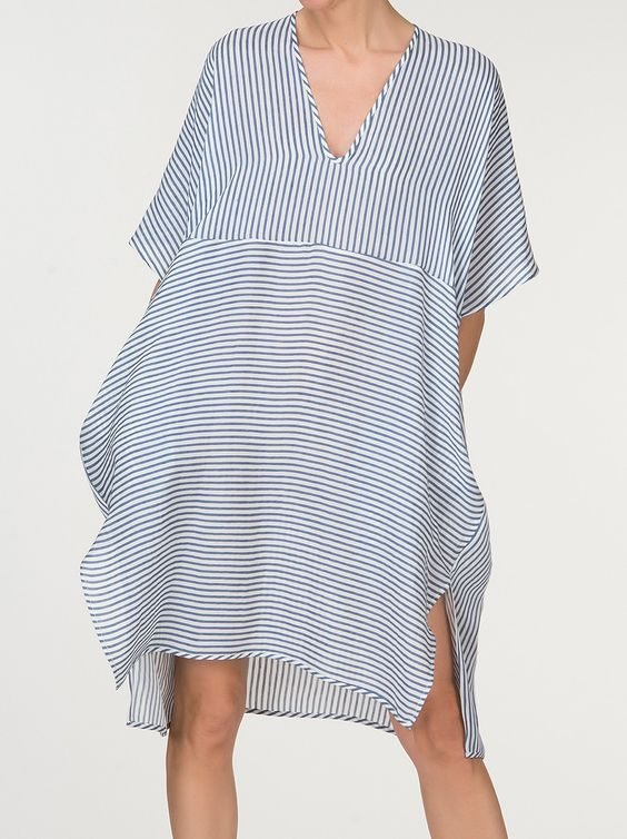 Linen Cotton Striped Dress // ELIE DRESS // Made in NYC:
