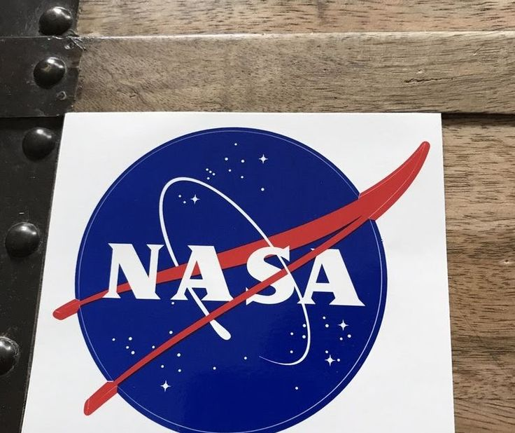 Official NASA Space Program Logo Sticker - New - 4x4 inches