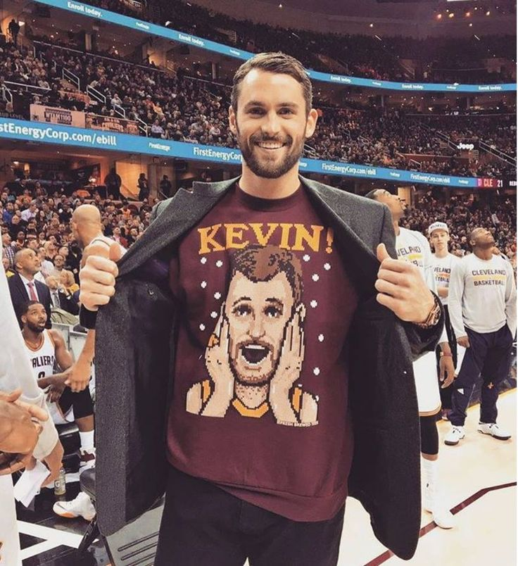 "Kevin Love, ""Merry Christmas ya filthy animal … And a Happy New Year.  KEVIN!!!!!"" 
