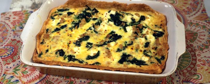 Spanakopita Quiche Recipe | The Chew - ABC.com I added onion dill and parsley to make it more authentic tasting!!!