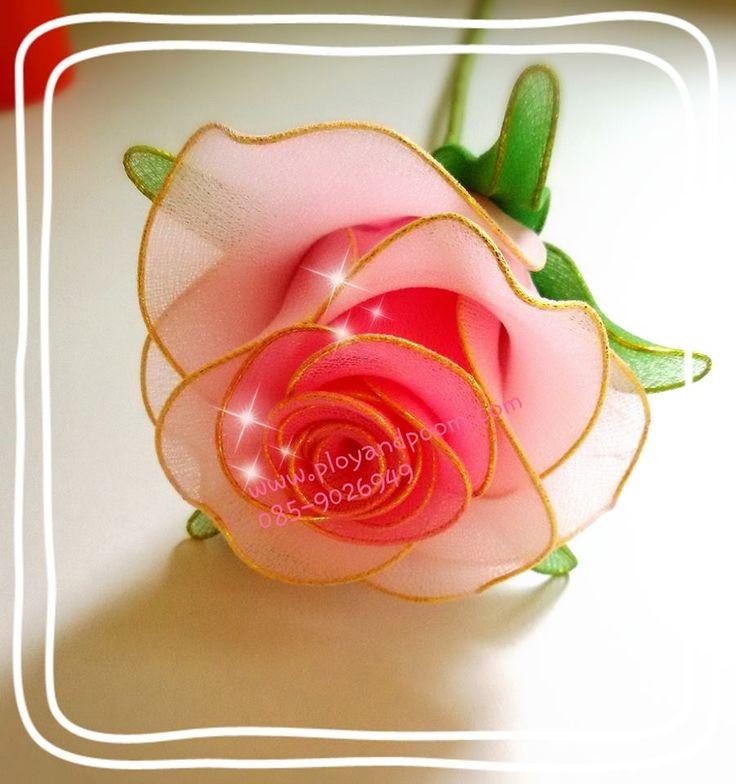 ดอกไม้ผ้าใยบัว stocking flower