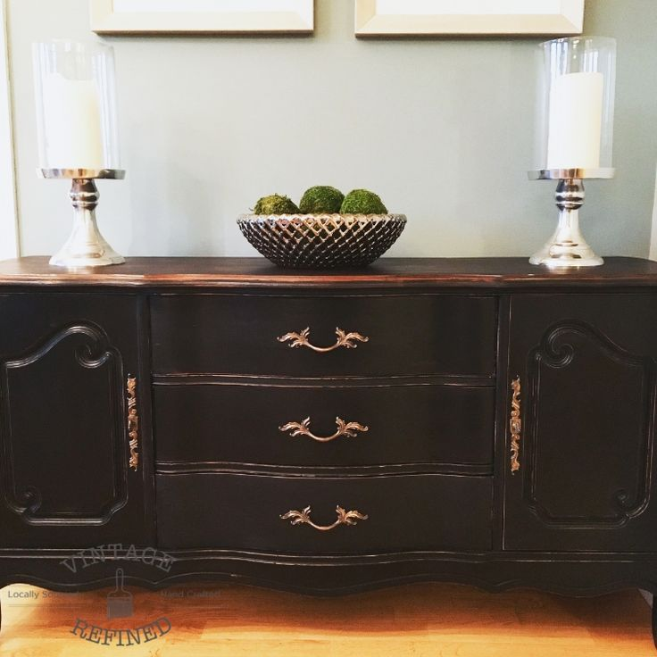 Black French Provincial Buffet — Vintage Refined