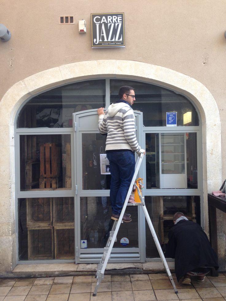 Début de pose au carré jazz à Nîmes - https://www.joueraveclepatrimoine.com/