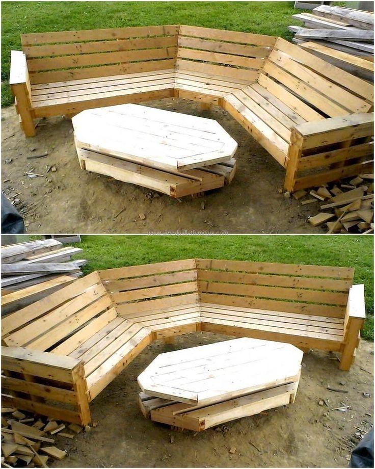 pallets garden furniture idea