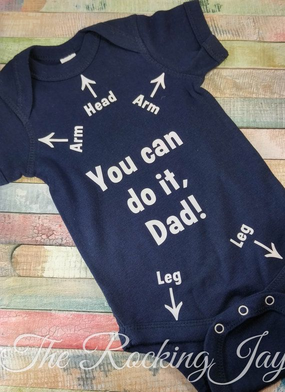arm leg labeled onesie baby shower gift dad by