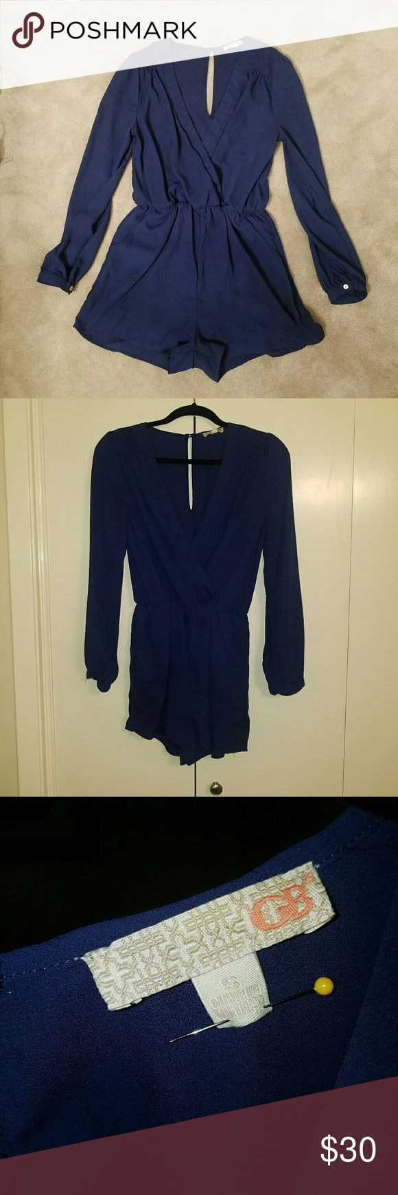 Gianni Bini Navy BLUE Romper Size Small EUC!  Worn once! Gianni Bini Shorts