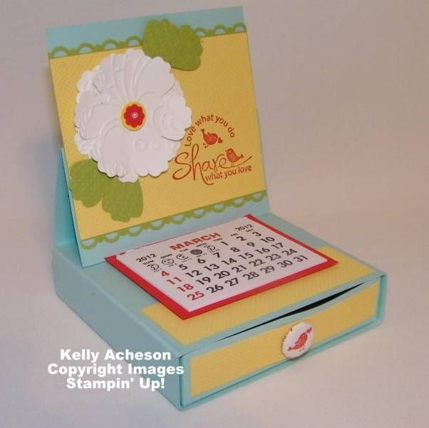 Desktop Calendar by Technique_Freak - Cards and Paper Crafts at Splitcoaststampers