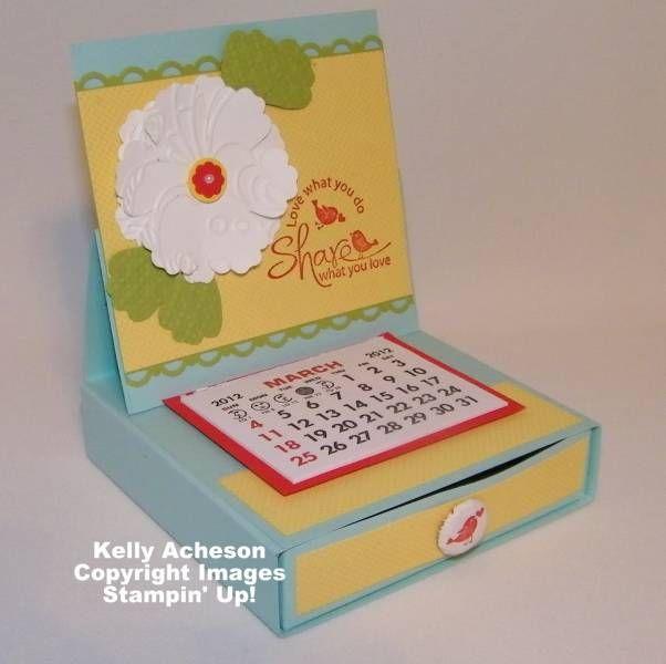 Desktop Calendar by Technique_Freak - Cards and Paper Crafts at Splitcoaststampers