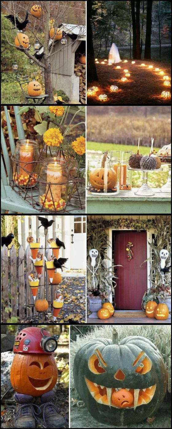 1000 ideas about outdoor halloween on pinterest outdoor for Pinterest halloween outdoor decorations
