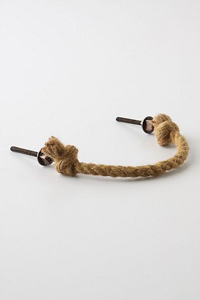 Pliant Rope Handle - anthropologie.com something similar for a shower curtain tie back