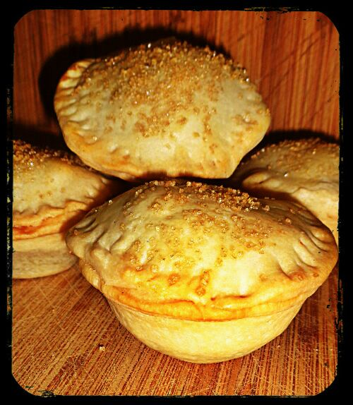 Apple Pies with an Olive Oil Crust