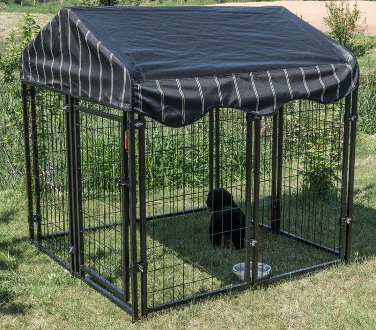 Lucky Dog Kennel W/Cover Welded Wire Steel Frame Pet Resort Comfortable Safe #kennel #steelframe #comfortable #safe #pet