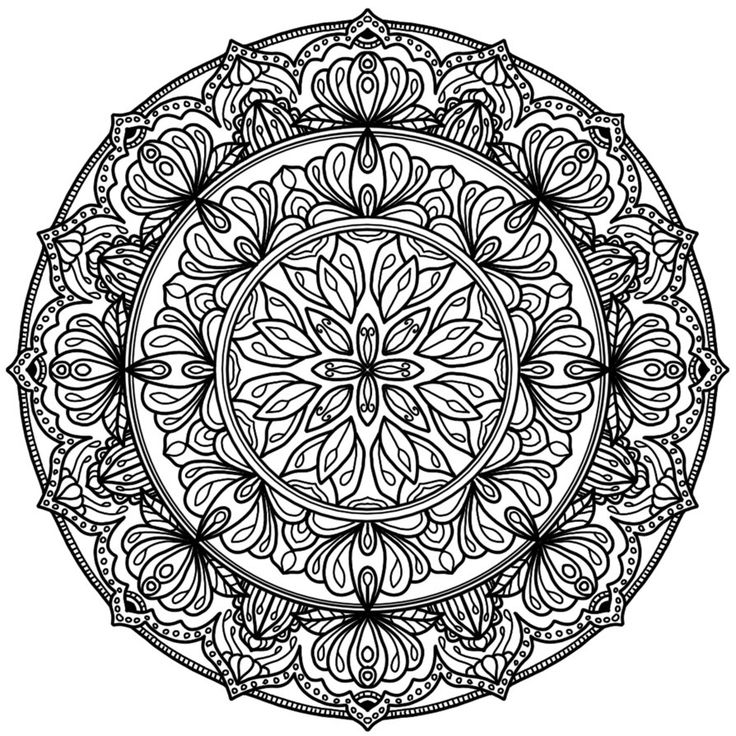 coloring pages adults circle - photo#17