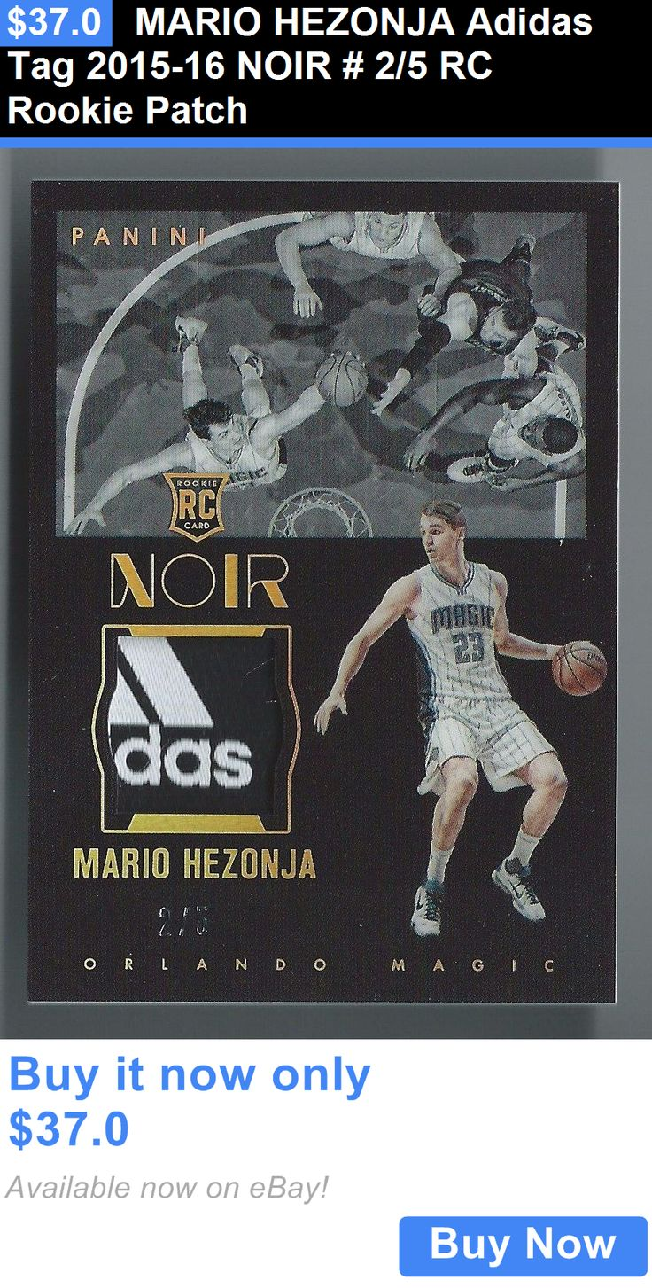 Sports Memorabilia: Mario Hezonja Adidas Tag 2015-16 Noir # 2/5 Rc Rookie Patch BUY IT NOW ONLY: $37.0