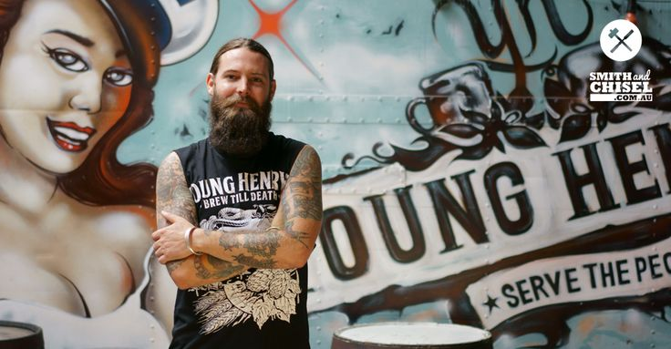 Oscar McMahon from Young Henrys Brewery.  Young Henrys is a craft brewery in Newtown, Sydney, NSW, Australia.  They make quality beer and cider with supersonic flavour.   See their profile story at: https://smithandchisel.com.au