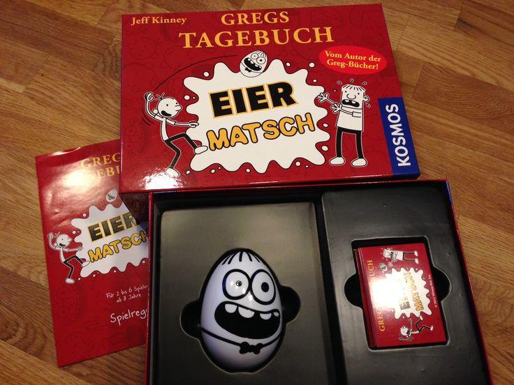 Von meiner letzten Errungenschaft im Kosmos-Shop in Stuttgart wollte ich schon längst berichten. Nachdem wir am Wochenende mit zwei anderen Familien unterwegs waren und das Spiel mal wieder DER Renner bei Groß und Klein war, will ich es jetzt auch endlich hier verewigen. Kaufen kann man es übrigens hier: http://www.kosmos.de/produktdetail-1-1/gregs_tagebuch_eiermatsch-1815/
