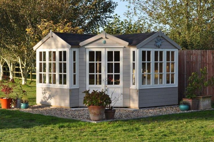 Corner summer house log cabin shed garden building for Summer homes builder