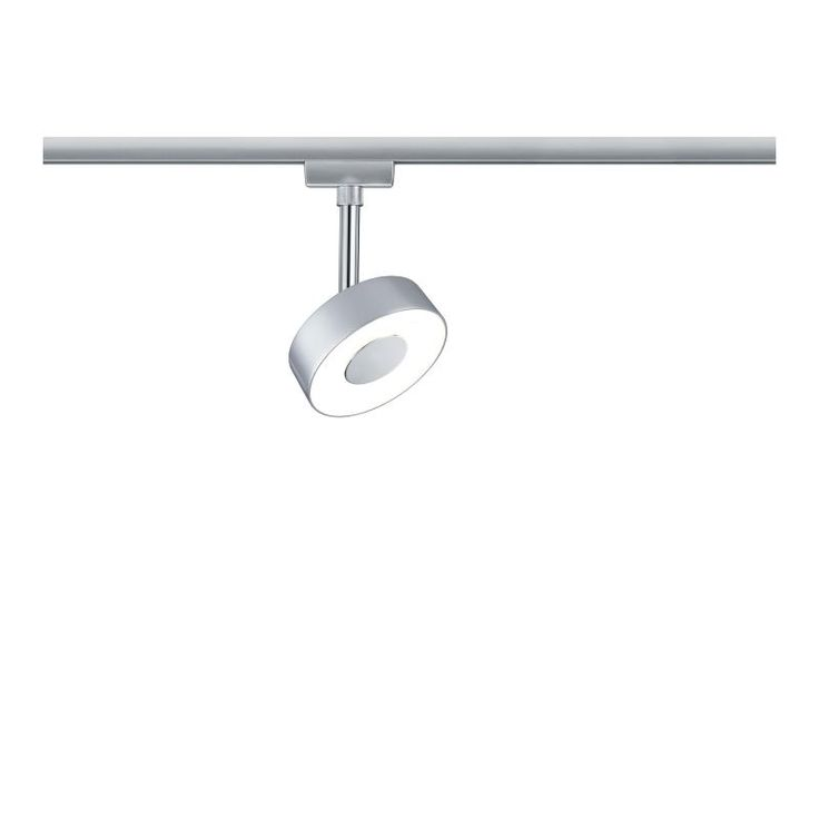spot sur rail led circle chrome mat paulmann 95271 - Spot Applique Sdb