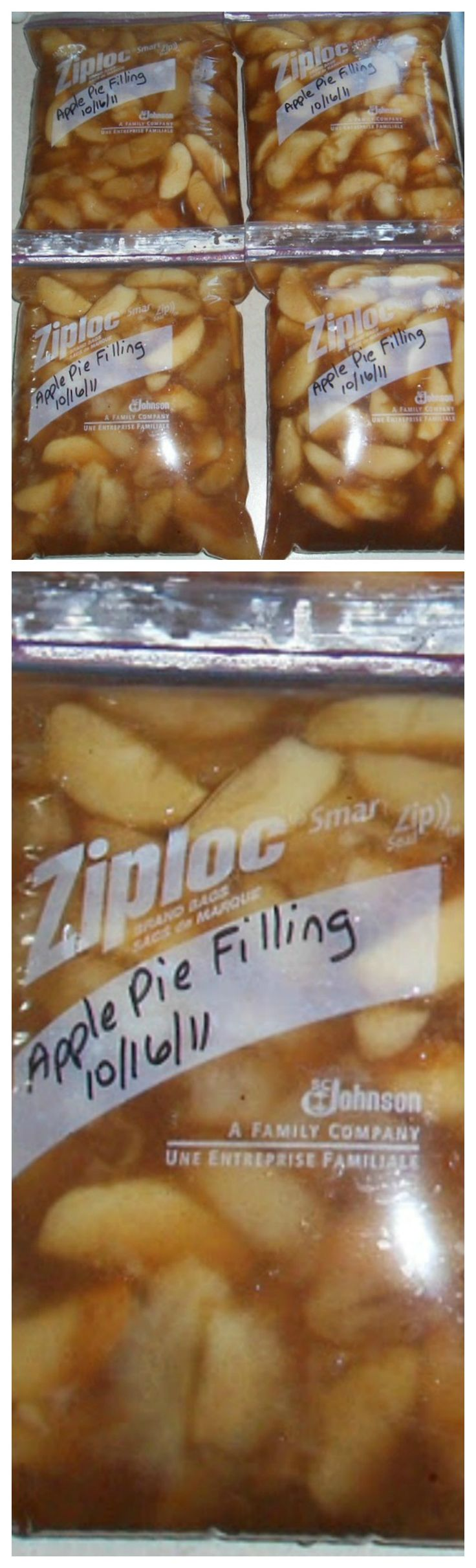 Apple Pie Filling for the Freezer ~ This recipe will keep in the freezer for 12 months... There are NO color additives or preservatives.