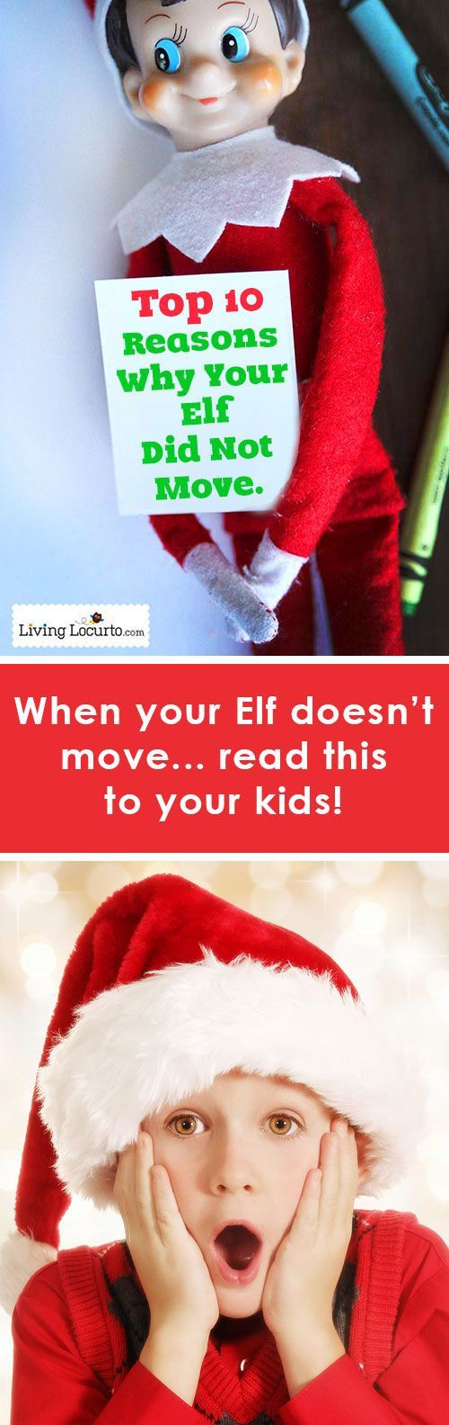 10 Facts for Kids to explain why their Elf on a Shelf might not have moved! Great for parents to read to kids.