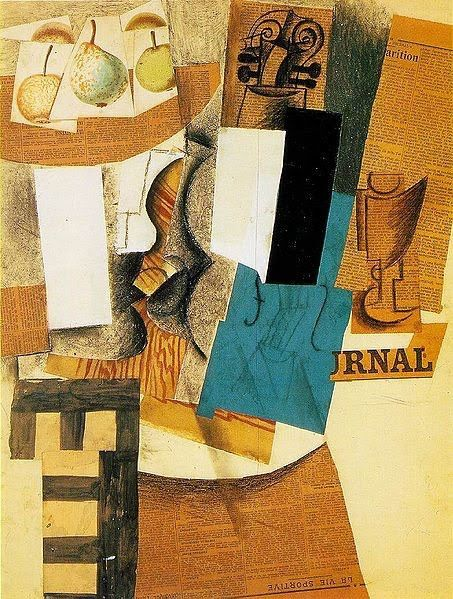 I had to pin a classic. Picasso is a prime example of how to successfully approach collage and give it a theme, whether it is experimental or socially conscious.