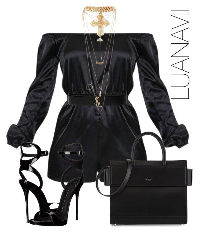 """Untitled #902"" by luanavii ❤ liked on Polyvore featuring Givenchy, NLY Accessories, Tacori and Giuseppe Zanotti"