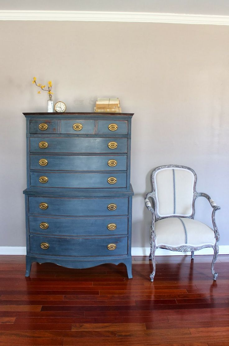 Shades of Blue Interiors: Makeover Monday: Tall Chest in Artissimo