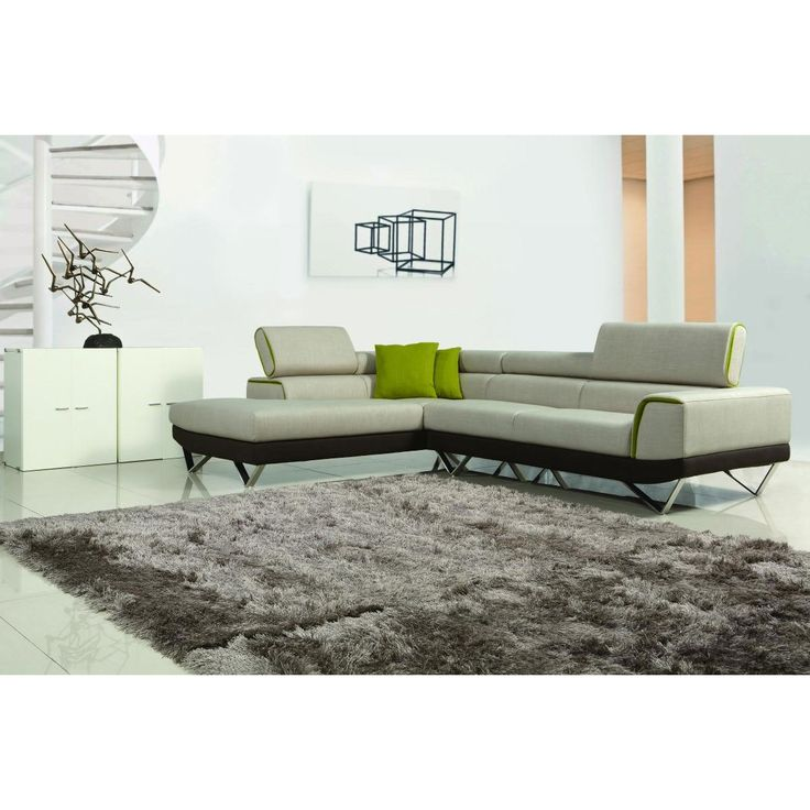 contemporary furniture sofa. vig furniture divani casa amy modern fabric sectional sofa with retractable headrests contemporary