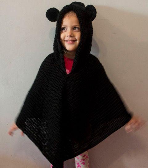 Crochet poncho con orejitas 😍