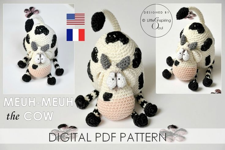cow crochet pattern on etsy ...So funny !!!