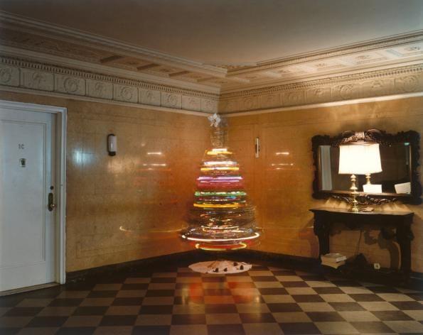 spinning christmas tree, new york city, 1977 • joel meyerowitz