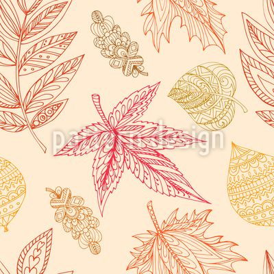 Decorative Autumn Leaves - Seamless pattern with decorative autumn leaves.