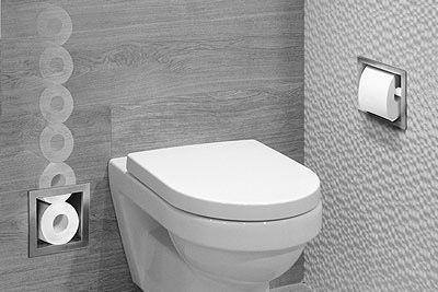 Looox inbouw wc rolhouder bathroom toilet closet