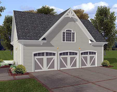 Plan 20054GA: Siding Three Car Garage With Storage Above. 3 Car Garage  PlansGarage ...