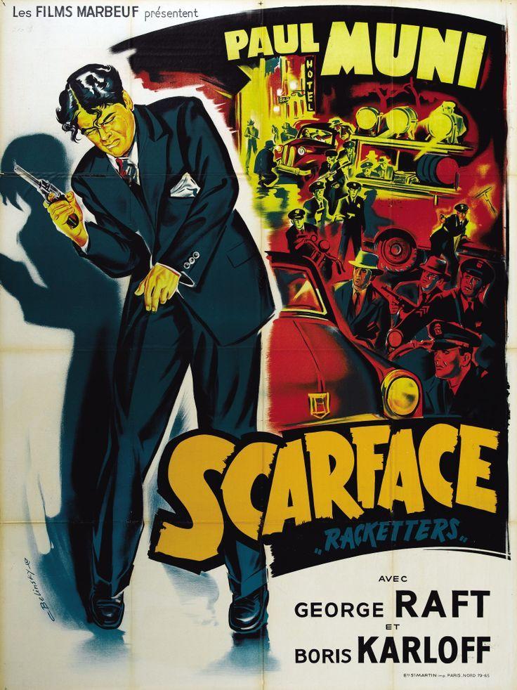Scarface (1932) - Starring Paul Muni, George Raft Boris Karloff #GangsterMovie #GangsterFlick
