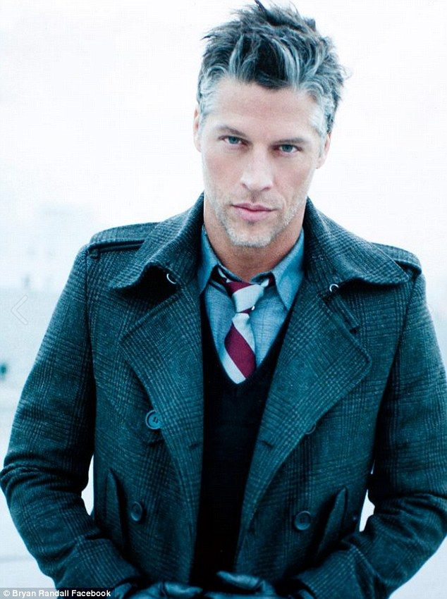 Wow! He likes celebrities: Bryan Randall has been linked to a famous person before he started seeing Sandra Bullock; here he is seen in a fashion ad