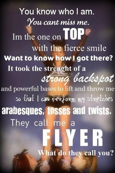 They call me a flyer | Cheer quotes | Pinterest | Cheer ...