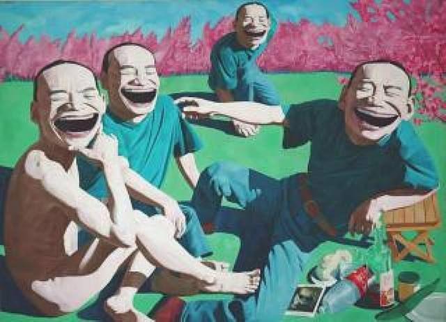 Yue Minjun, Déjeuner sur l'herbe, 1995 (after manet / le déjeuner sur l'herbe)